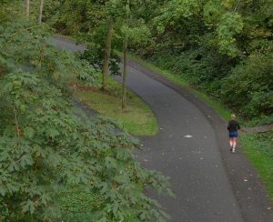 How to get Burke-Gilman Trail users attention for marketing.