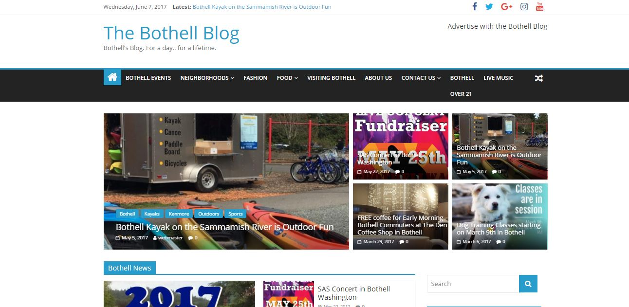 Using Bothell Events to Drive Traffic